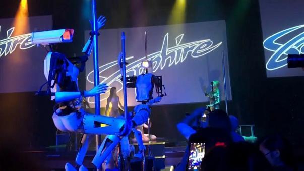 Bailarinas robóticas en las Vegas