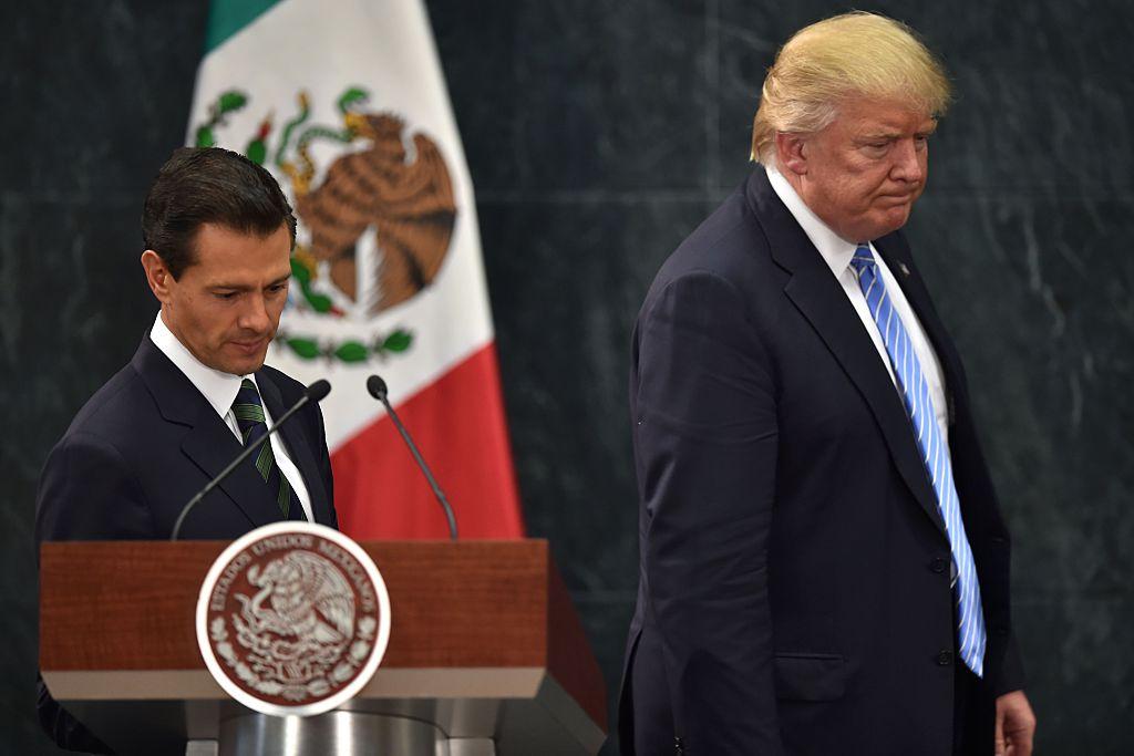 El presidente Trump busca que México pague el muro que planea colocar en la frontera